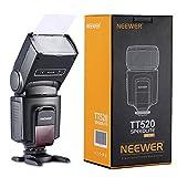 Neewer TT520 Flash Speedlite for Canon Nikon Sony Panasonic Olympus Fujifilm Pentax Sigma Minolta Leica and Other SLR Digital SLR Film SLR Cameras and Digital Cameras with single-contact Hot Shoe