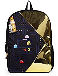 Mojo Life Pac Man Chomp Gold and Black Backpack School Bag