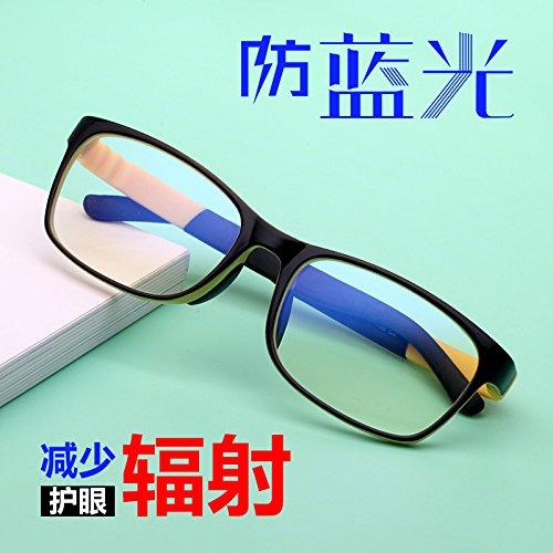 KOMNY niños anti gafas azules ojo montura contra las radiaciones femenino equipo móvil Plano,Amarillo C2
