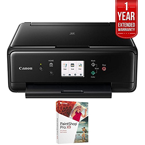- Canon PIXMA TS6020 Compact Wireless All-in-One Auto Duplex Printer Black (1368C002) with PC Treasures Corel PaintShop Pro X8 & 1 Year Extended Warranty