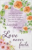 Wedding Program Bulletin - ''Love cares. Love listens.'' NIV Scripture - (Package of 100)