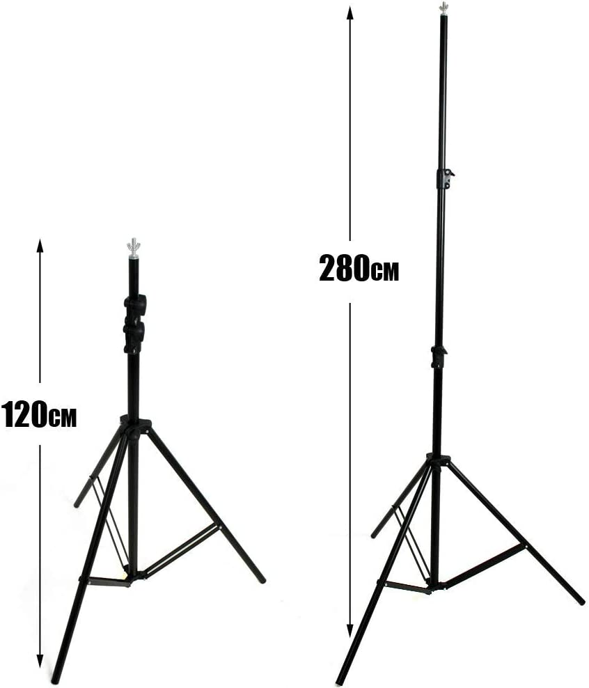 Wide Cross Bar 2.8m//9.2 ft Tall Adjustable Background Stand Backdrop Support System Kit with Carry Bag VOLKWELL Studio Photo Video Studio 3m//10ft