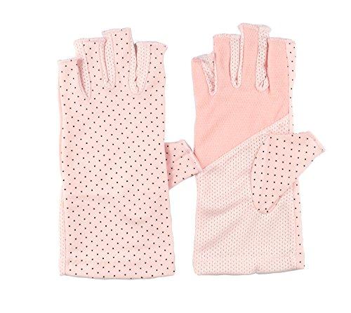 Summer Hiking Outdoor Sun Gloves Summer Dress Driving Gloves Cool Biking Anti UV Gloves Pink (Womens Driving Gloves)