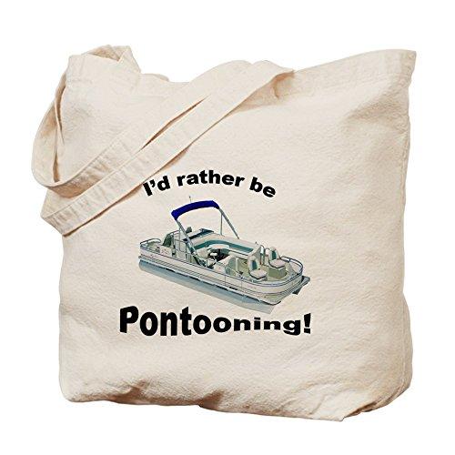 CafePress–Pontoon barcos barco Fun reciclar comestibles–Gamuza de bolsa de lona bolsa, bolsa de la compra