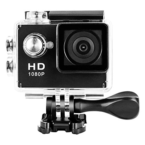 Amazon Lightning Deal 95% claimed: Mini Sports HD Action Camera DV A9 1080P 30M Waterproof cames 120°Wide-angle Lens H.264 @30fps for Free Accessories Kit