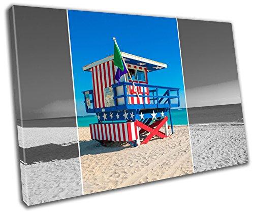 Beach Hut Beach Landscape Canvas Print Home Decor- Wall Art - Modern Prints - Ready To - Menu Beach Hut