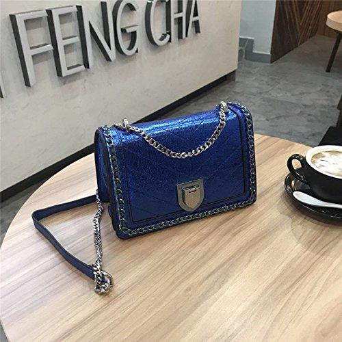 Bags Women's Blue sapphire Shoulder Chain Length Entertainment Color Bag Fashion Celebrities Wxin Small Single Shoulder HZFq7xWwt