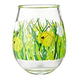 Enesco Designs by Lolita Dandelion Acrylic Stemless Wine Glasses, Set of 2, 17 oz.