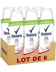 Faites des économies sur Rexona déodorant femme spray musc compressé 100ml - Pack de 6 et plus encore