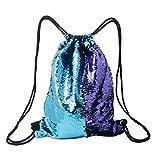 Glitter Reversible Sequins Drawstring Bag Double Color String Backpack Shoulder Bag