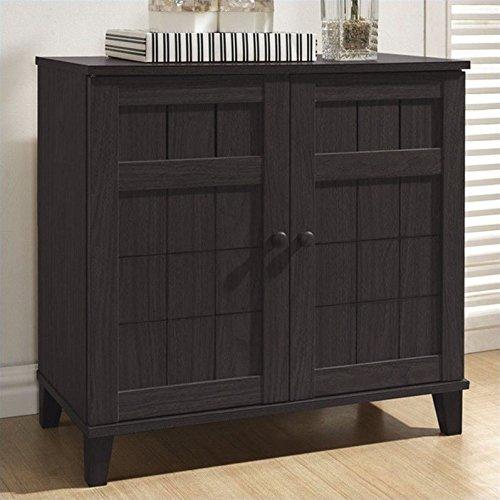 Dark Brown Baxton Studio - Baxton Studio Glidden Wood Modern Shoe Cabinet, Short, Dark Brown
