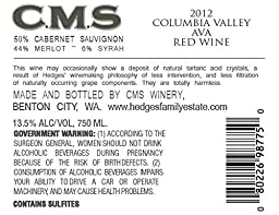 2014 CMS Columbia Valley Red 750 mL Wine