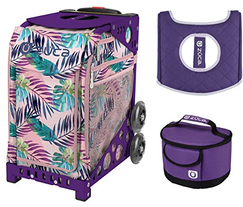 Zuca Sport Bag - Pink Oasis with Gift Lunchbox and Seat Cover (Purple (Pink Oasis)
