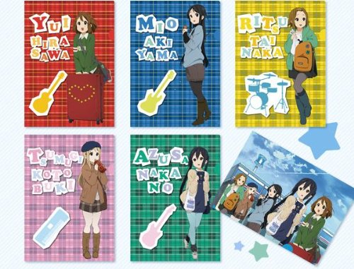 K-On! x Lawson Fair 3rd clear file all set of 6 Yui Azusa Ritsu Mio Tsumugi K-ON (japan import)