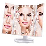 Makeup Mirror Lighted Vanity Mirror with 21 LED lights 3X/2X Magnifying Led Makeup Mirror with Adjustable Touch Screen