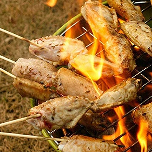 HONG YU 80-90 Pcs en bois de bambou Brochettes Grill Party Shish Kabob bois Bâtons Camping Barbecue Accessoires de cuisine Outils for barbecue