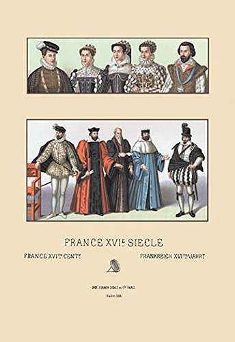 Costume Au Xviiie (Costumes of the French Magistrate, Sixteenth Century - 12x18 Art Poster by Au...)