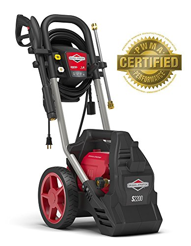 (Briggs & Stratton Electric Pressure Washer 2200 PSI 1.2 GPM with 25' High-Pressure Hose, Turbo Nozzle & Detergent Foamer)