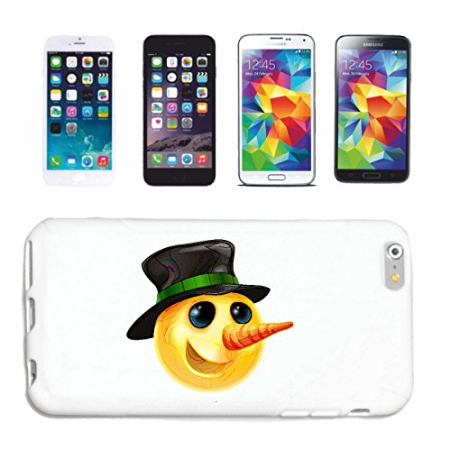 """cas de téléphone iPhone 4 / 4S """"SMILEY AVEC NEZ LONG ET NOIR HAT """"sourire EMOTICON APP de SMILEYS SMILIES ANDROID IPHONE EMOTICONS IOS"""" Hard Case Cover Téléphone Covers Smart Cover pour Apple iPhone e"""