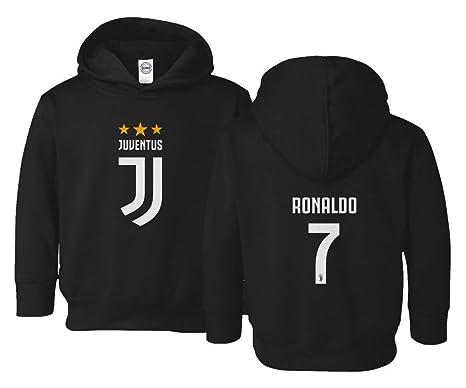 1fff910273c Spark Apparel Soccer Shirt  7 Cristiano Ronaldo Juve CR7 Little Kids Girls  Boys Toddler Hooded