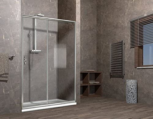 122//126cm Porta doccia scorrevole nicchia cristallo 6mm opaco box doccia ELISIR 125cm