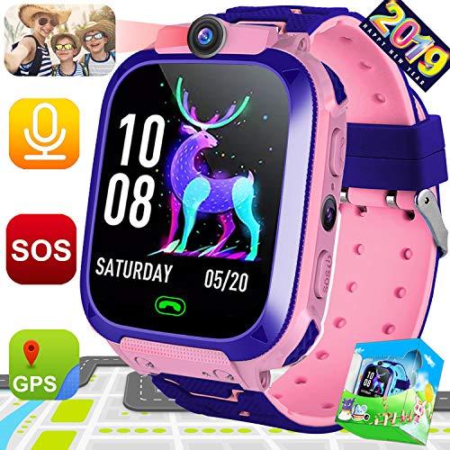 Symfury Kids Phone Smart Watch for Boys Girls Children Wrist Smartwatch with GPS Tracker 2 Way Call 1.44
