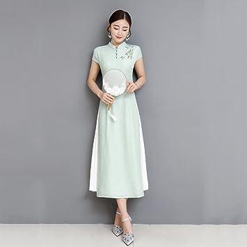Vestido de mujer Vestido de mujer Vestido de fiesta largo chino Vestido de fiesta largo de