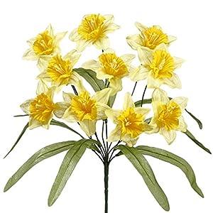 "17"" Narcissus Daffodil Silk Flower Bush -2 Tone Yellow (Pack of 24) 38"