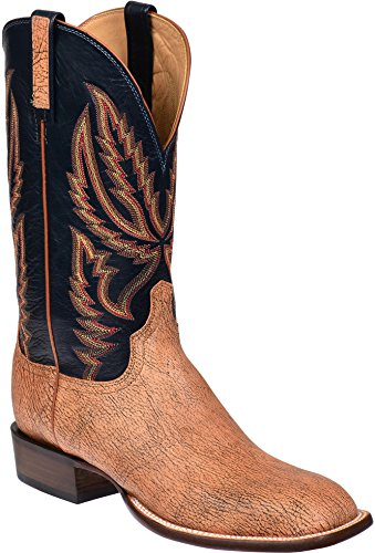- Lucchese HY2504.W8 Archer Mens Tan Old English Goat Leather Cowboy Western Boots
