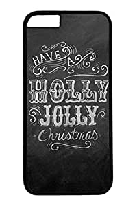 iPhone 6 Case, Personalized Unique Design Covers for iPhone 6 PC Black Case - Holly Jolly