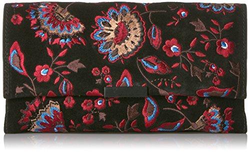 LOEFFLER RANDALL Tab Clutch (Embroidered Suede), Black Floral