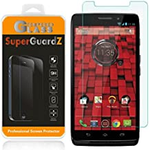 [2-Pack] For Motorola DROID Maxx (2013 Release, For Verizon) - SuperGuardZ Tempered Glass Screen Protector, 9H, 0.3mm, 2.5D Round Edge, Anti-Scratch, Anti-Bubble