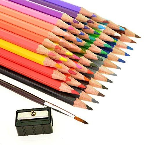 Ishua 48 Color Colored Pencils Drawing For Sketch Secret Garden Coloring Book