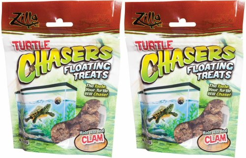 Zilla Turtle Chasers Floating Treats Clam, 4oz (2 x 2oz) by Zilla