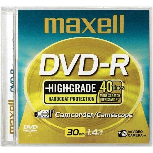 Maxell DVD-R Highgrade Hardcoat Protection Camcorder/camescope 30 Min. 1.4GB