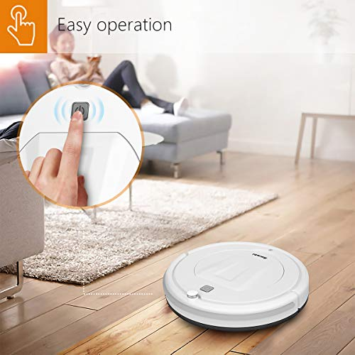 Robot Vacuum Cleaner,Amrobt Robotic Vacuum Cleaner with Remote Control, Super-Thin, Multiple Cleaning for Pet Hair,Hard Floor to Carpets