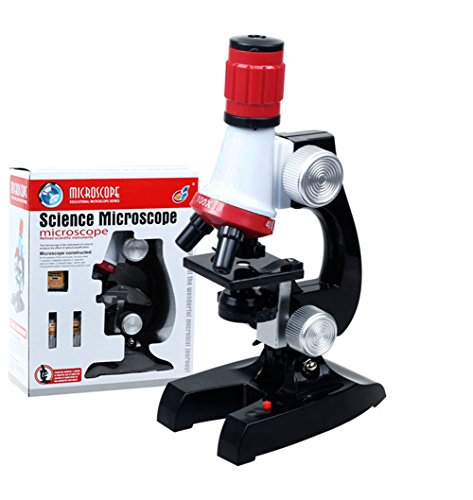 Microscope for Beginner, Science Kits for Kids with LED 100X 400X and 1200X