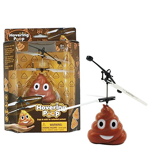 Beautymei E-moji Funny Poop Emoji RC Flying Ball Toys, RC infrared Induction Helicopter Ball for Kids and Teenagers