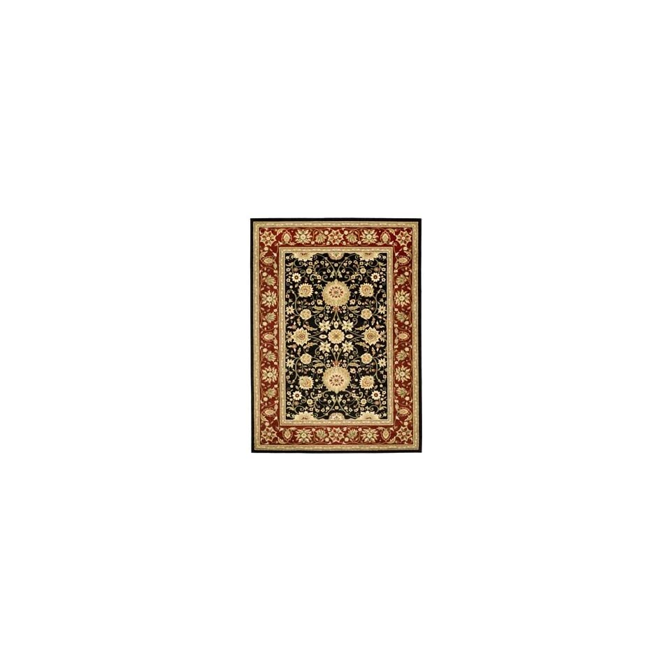 Safavieh Rugs Lyndhurst Collection LNH212G 9 Black/Red 9 x 12 Large Rectangle