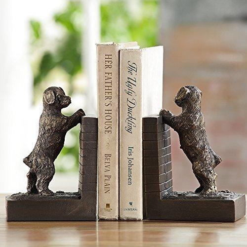 SPI Home Perky Peeking Puppy Bookends