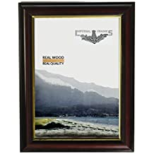 Imperial Frames 16 by 20-Inch/20 by 16-Inch Picture/Photo Frame, Round, Mahogany Molding with Gold Leaf