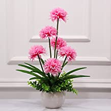 SituMi Artificial Fake Flowers Simulation Silk Flower Hydrangea Decor ,Pink