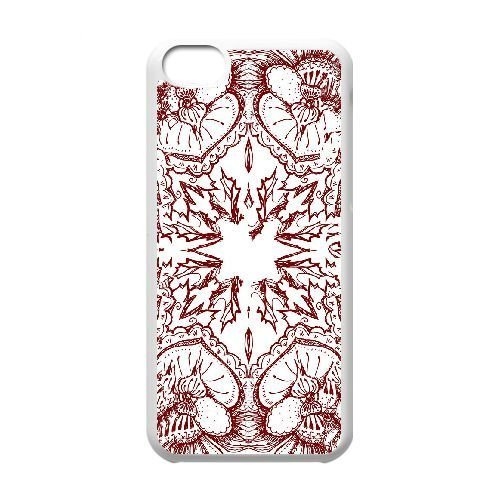 FDXGW583 iPhone 5c Cell Phone Case-white_Retro Flower (16)