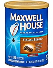 Maxwell House Ground Coffee House Blend (10.5 oz Canisters, Pack of 6)