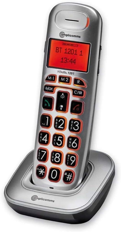 Amplicomms Big Tel 1201 – Teléfono inalámbrico adicional: Amazon.es: Electrónica