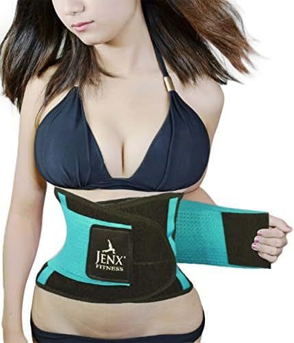 Jenx Fitness Unisex Waist Trimmer, Light Green,  Small