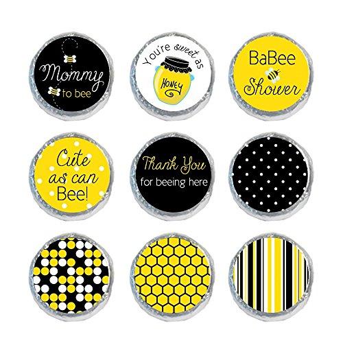 Mini Candy Stickers Black & Yellow (Set of 324)