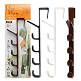 FEOOWV 3pcs Over Door Accessory Hanger - Scarf, Belt, Hat, Jewelry Organizer - Vertical Hook Rack