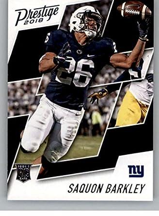 reputable site 8d71b 76fc4 Amazon.com: 2018 Prestige NFL #261 Saquon Barkley New York ...