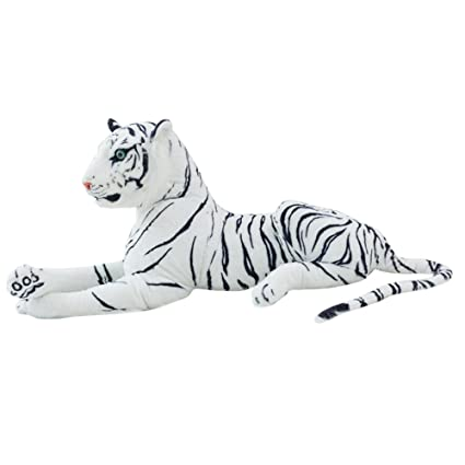 Amazon Com Guofeudallord White Tiger Stuffed Toys 23 6 Realistic